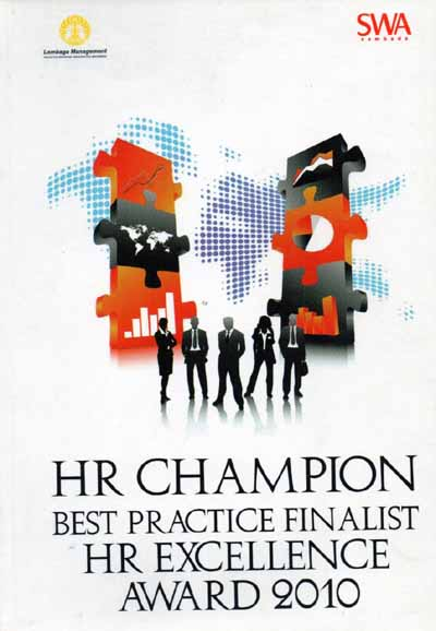 HR CHAMPION BEST PRATICE FINALIST HR EXCELLENCE AWARD 2010