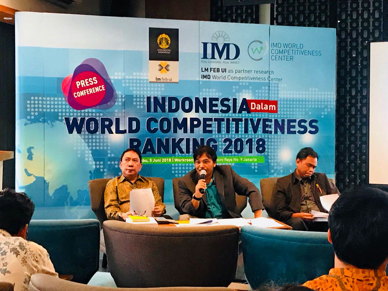 Peluncuran IMD World Competitiveness Yearbook 2018 - Indonesia Report
